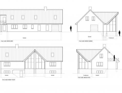 Arkitekttegnet parcelhus på 430 m²