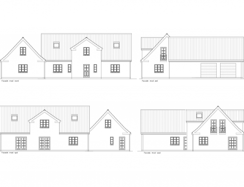 Arkitekttegnet vinkelbygget landhus
