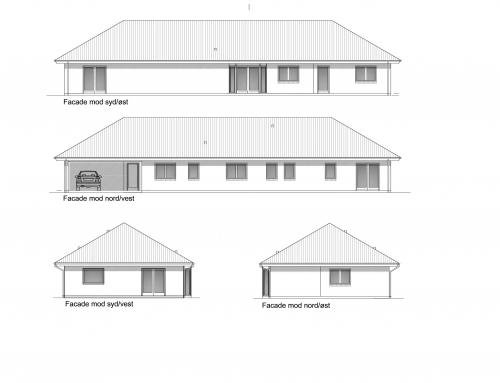 Arkitekttegnet længehus 178 m²